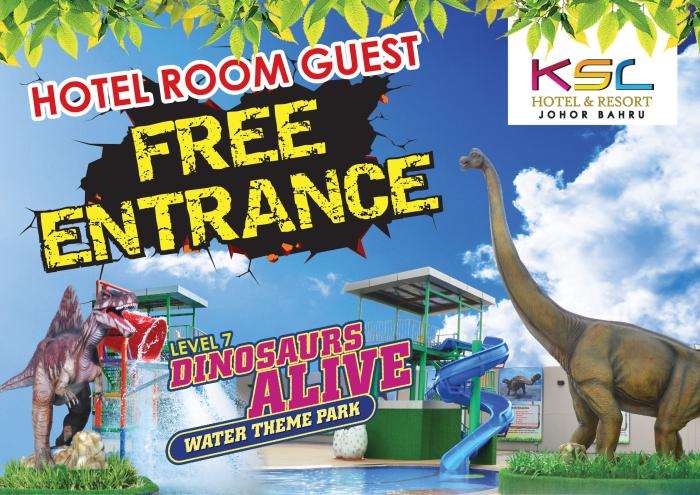 DINOSAUR ALIVE FREE FOR HOTEL ROOM GUEST